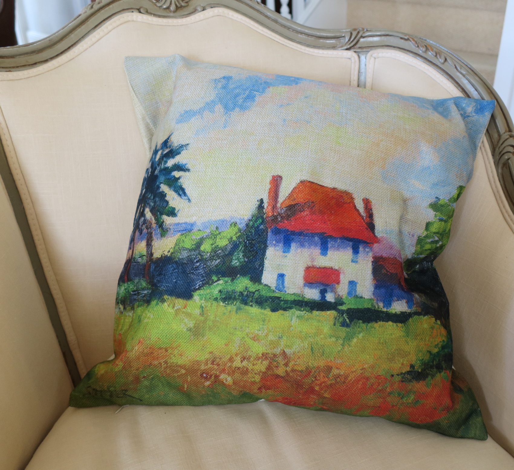 Photo Throw Pillow Gifts : Provence House throw pillow - Bruce Stebner